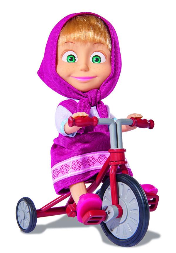 Masha 12 cm. con triciclo - ALTRO - Altre bambole e accessori