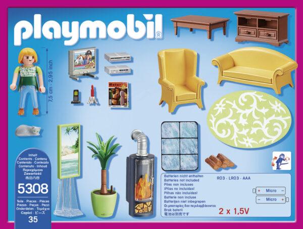 5308 -SOGGIORNO CON STUFA - PLAYMOBIL - DOLL HOUSE - Fino al -30%