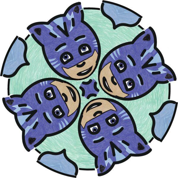 RAVENSBURGER CLASSIC PJ Masks Junior Mandala Designer® PJ Masks - Gioco Creativo Ravensburger 29705 - Ravensburger Classic - Toys Center Unisex 12+ Anni, 3-5 Anni, 5-8 Anni, 8-12 Anni