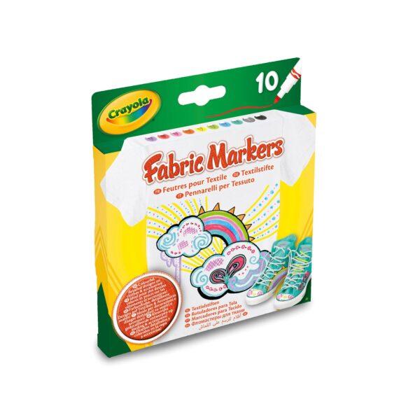 10 Pennarelli per tessuto Crayola CRAYOLA Unisex 12-36 Mesi, 12+ Anni, 3-5 Anni, 5-8 Anni, 8-12 Anni ALTRI