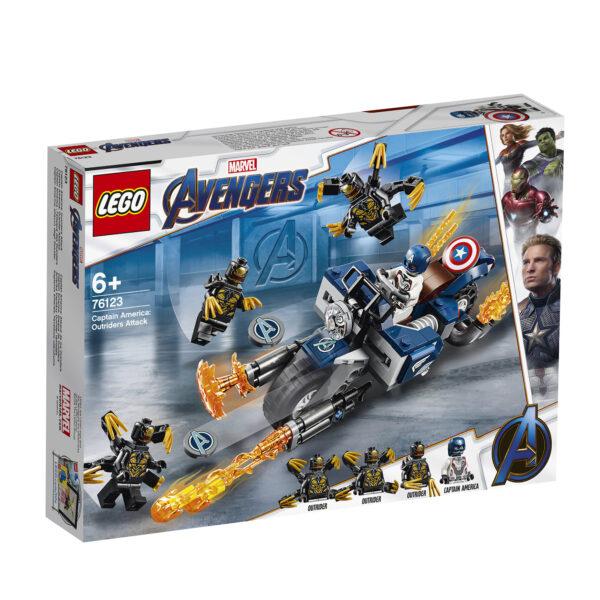 76123 - Captain America: attacco degli Outrider - Lego Super Heroes - Toys Center LEGO SUPER HEROES Unisex 12+ Anni, 3-5 Anni, 5-8 Anni, 8-12 Anni ALTRI