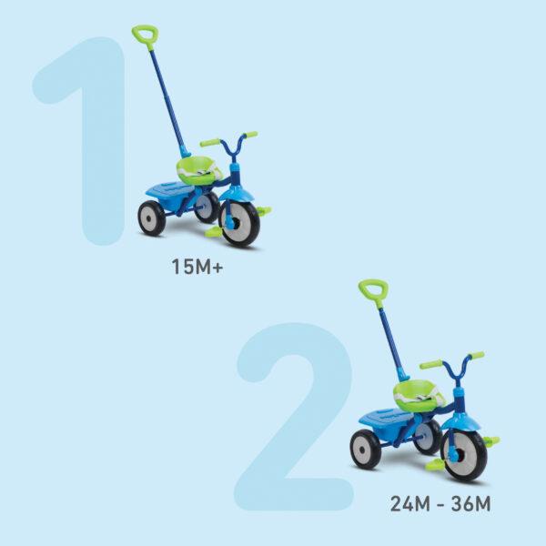 SMART TRIKE FOLDING FUN 2 IN 1 BLU - SMART TRIKE - Marche ALTRI Unisex 12-36 Mesi, 3-5 Anni SMART TRIKE