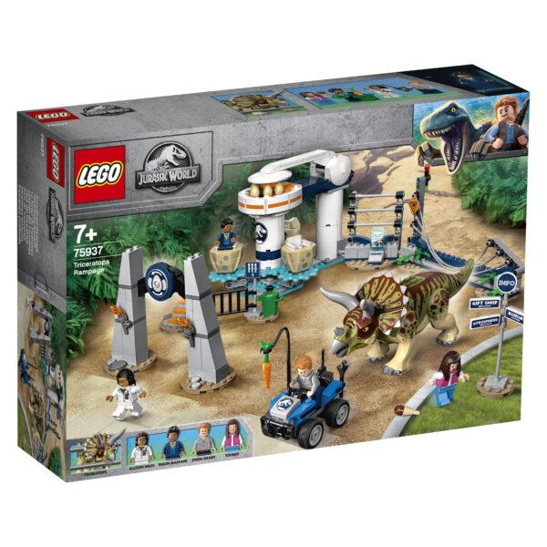 LEGO Jurassic World L'assalto del Triceratopo - 75937