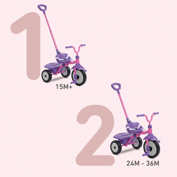 SMART TRIKE FOLDING FUN 2 IN 1 ROSA - SMART TRIKE - Marche ALTRI Femmina 12-36 Mesi, 3-5 Anni SMART TRIKE