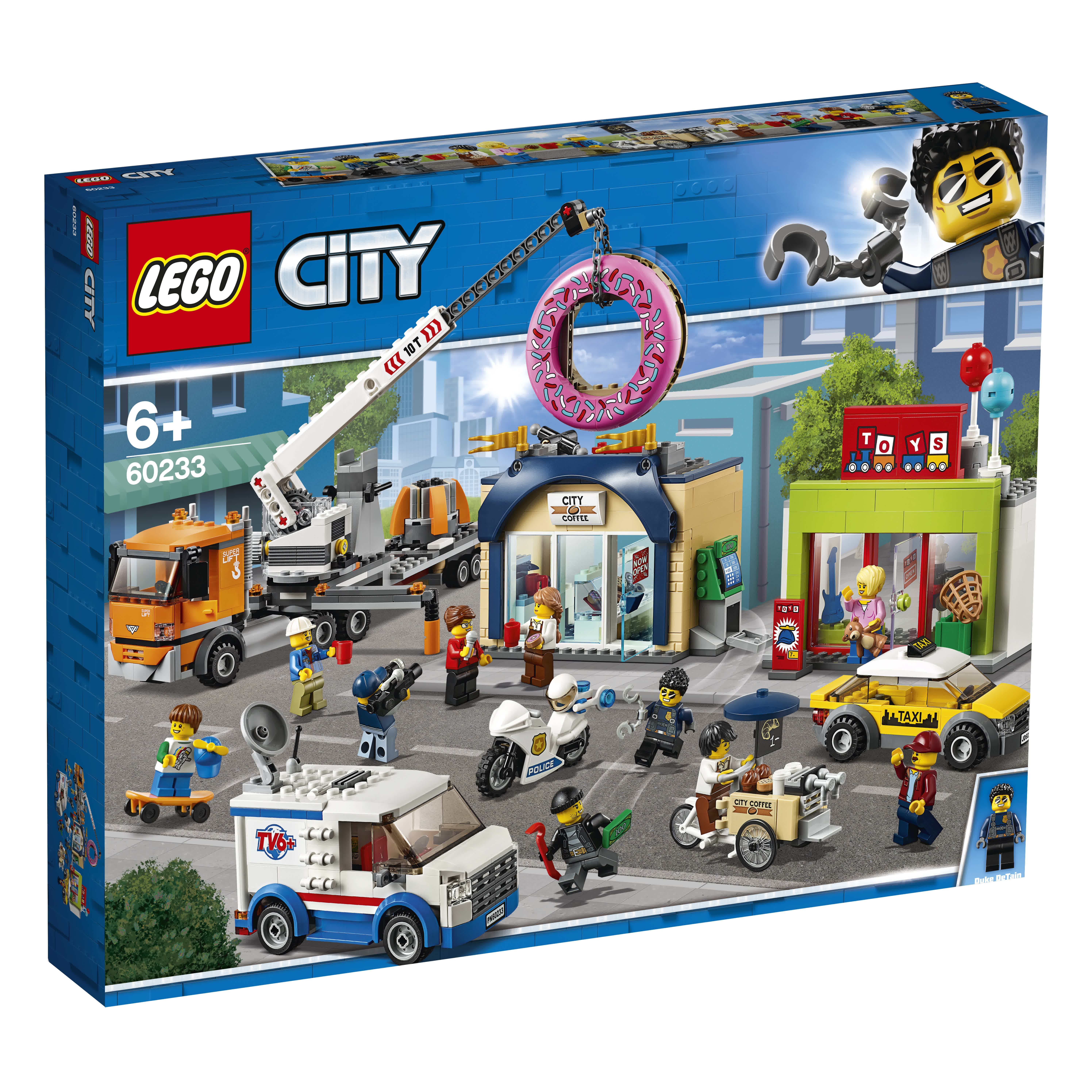 spoon vase wash  LEGO City Inaugurazione della ciambelleria - 60233 - Toys Center