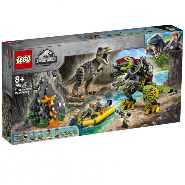 LEGO Jurassic World Battaglia tra T. rex e Dino-Mech - 75938