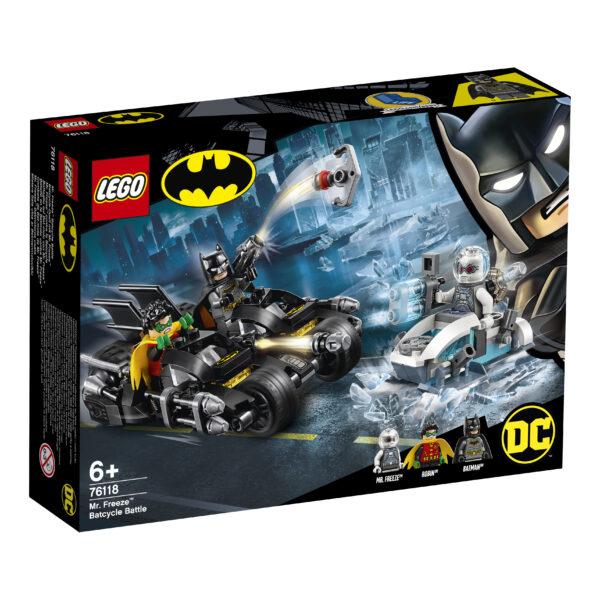 LEGO Batman Battaglia sul Bat-ciclo con Mr. Freeze - 76118