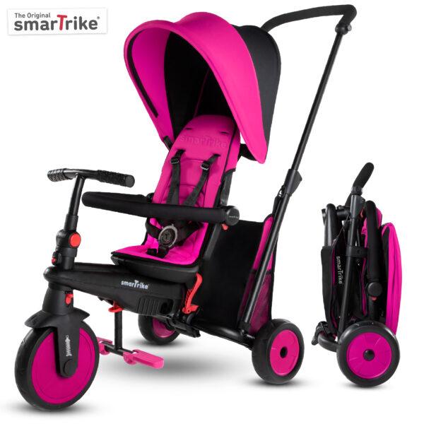 SMART TRIKE STR3 FOLDING 6 IN 1 ROSA - SMART TRIKE - Marche SMART TRIKE Femmina 0-12 Mesi, 12-36 Mesi, 3-5 Anni ALTRI