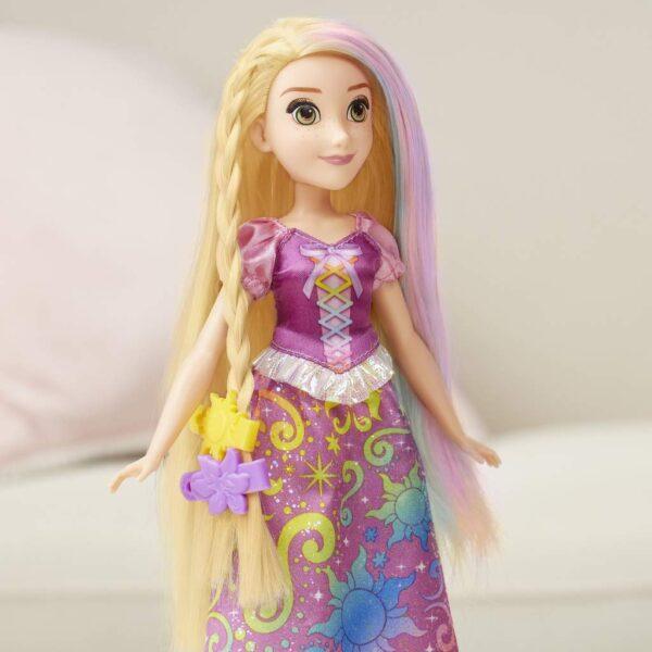 Disney Princess - Rainbow Rapunzel, con capelli per giocare stile arcobaleno - Fashion dolls