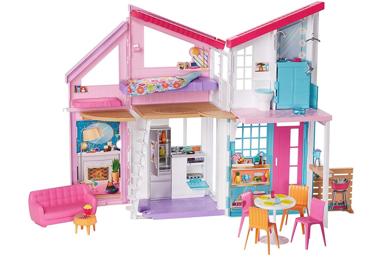 Letto A Castello Barbie.Barbie Casa Di Malibu Playset Richiudibile Su Due Piani Con