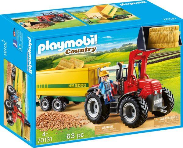 Playmobil 70131 - Trattore con Rimorchio per Mangime - Costruzioni