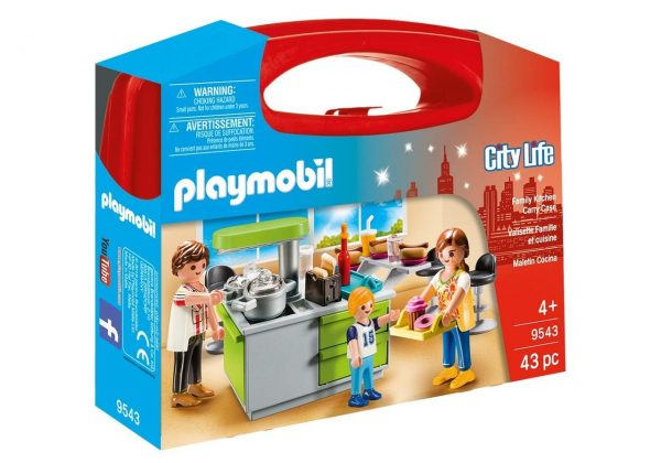 Playmobil 9543 - City Life Collectable Family Kitchen Carry Case Giocattolo - Costruzioni