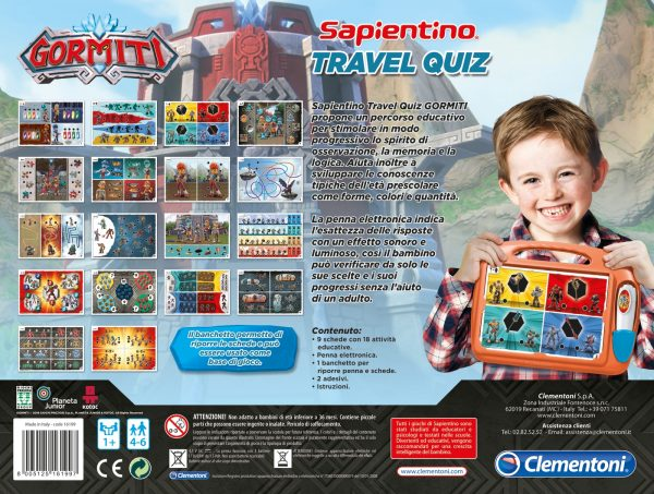 Sapientino Travel Quiz Gormiti - Giochi educativi, musicali e scientifici