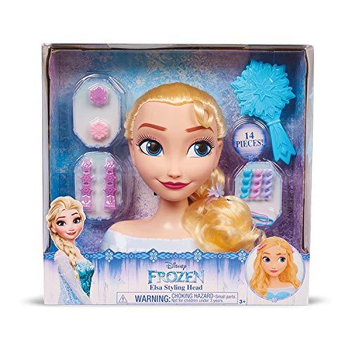 Grandi Giochi DND05000, Disney Frozen Small Elsa Styling Head, Multicolore