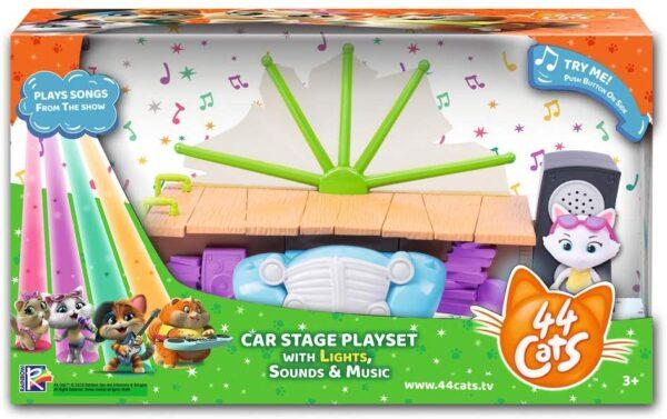 Smoby-44 Gatti-Playset palcoscenico Personaggio Incluso con Suoni, Colore, 7600180205