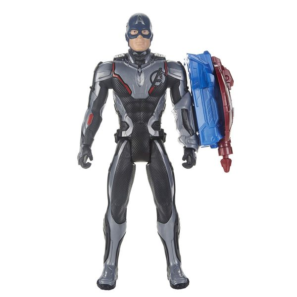 Marvel Avengers: Endgame - Captain America Titan Hero con Power FX incluso (Action Figure da 30 cm) - Action figures
