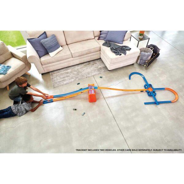 Hot Wheels- Track Builder Deluxe Stunt Box, Playset con Componenti Pista Assortiti