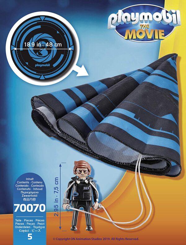 PLAYMOBIL: THE MOVIE 70070 - Rex Dasher Con Paracadute