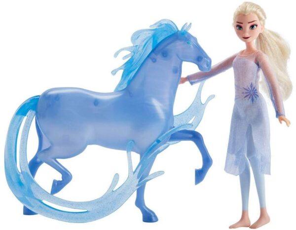 Fashion Doll Elsa di Disney Frozen e personaggio Nokk ispirato a Frozen 2 - Action figures