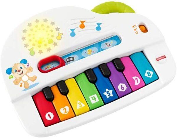 Fisher-Price Pianoforte di Cagnolino, Gioco Musicale con Luci e Suoni, Versione Italiana, Bambini 6 + Mesi
