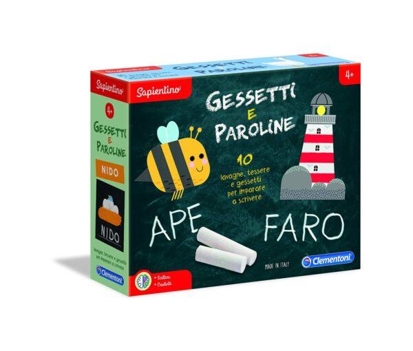 Clementoni  - 161256 - Sapientino-Gessetti e paroline, Gioco educativo, Multicolore