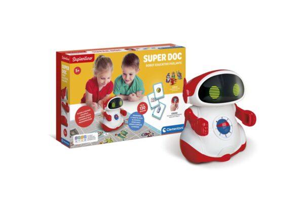 Clementoni - 12094 - SuperDOC - Robot educativo  programmabile, che insegna il coding