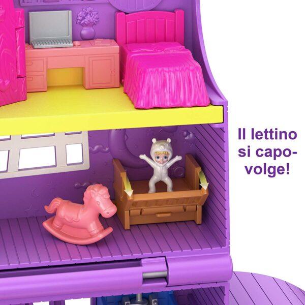 Polly Pocket- Casa di Polly, Playset Richiudibile con Bambola e Accessori - Case delle bambole