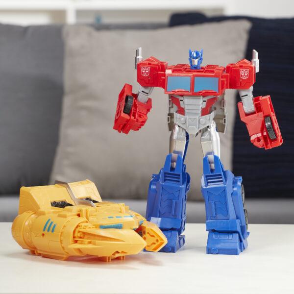 Transformers Cyberverse - Optimus Prime con Spark Armor Ark Power - Si combina con il veicolo Ark Power per potenziarsi