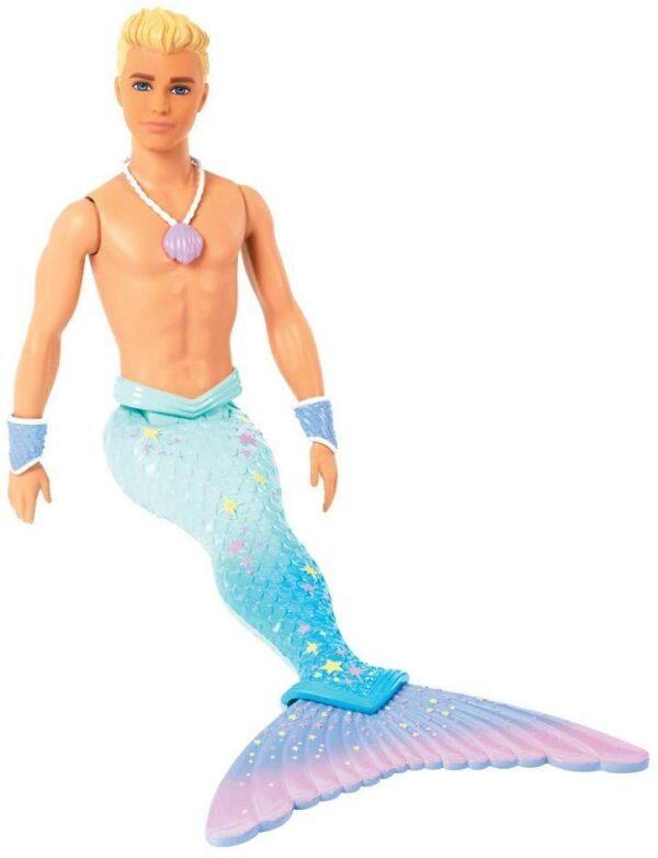 Barbie Ken Tritone dei Mari, Bambola Bionda con Coda - Fashion dolls