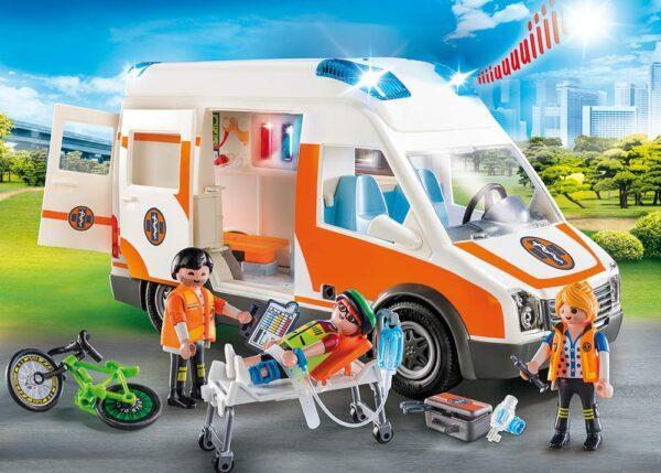 Playmobil 70049 - Ambulanza con Luci Lampeggianti