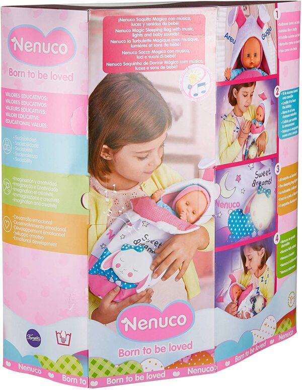 Nenuco - Sacchetto Magico, Bambola con luci e Suoni, per Bambine e Bambini a Partire da 10 Mesi (Famosa 700015021)