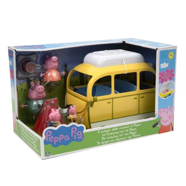 Peppa Pig Camper Playset con 4 Personaggi e Accessori