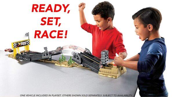 Disney- Cars Drag Racing Playset, Include Macchinina Saetta McQueen