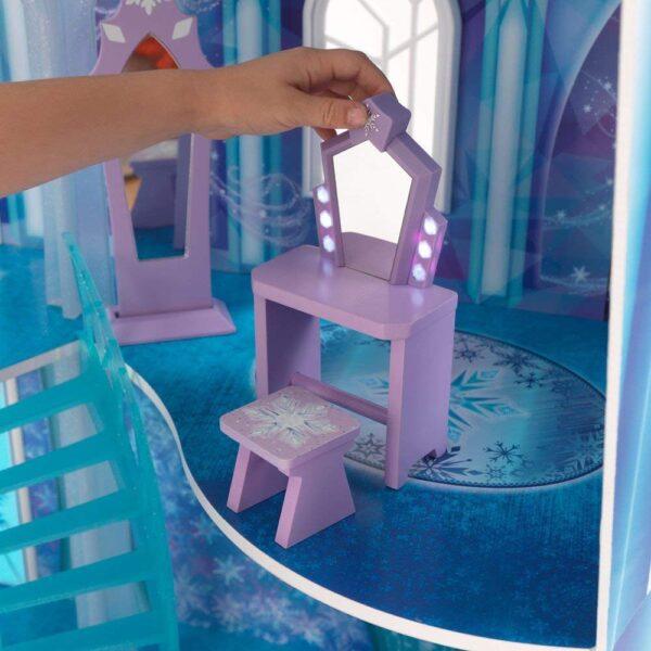 Disney Frozen - Castello di Arendelle deluxe con luci, terrazzo mobile e suoni (alto 1.5m, ispirato al film Frozen 2) - Action figures
