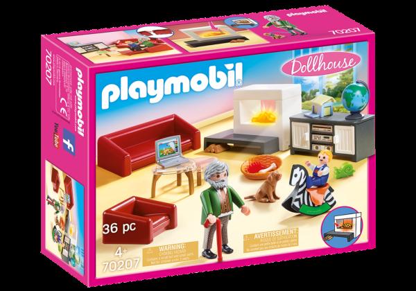 PlayMobil Dolhouse Soggiorno con camino