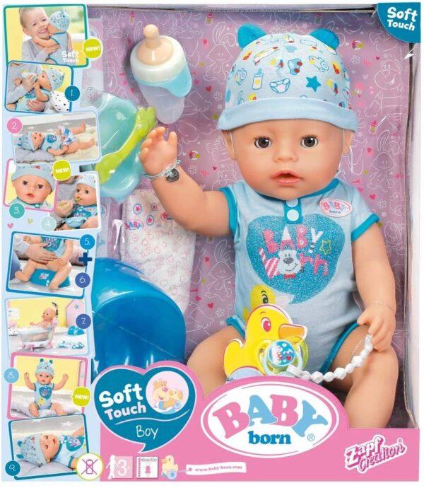 Giochi Preziosi Baby Born, Boy Soft Touch Bambola 43 cm - Bambolotti e accessori