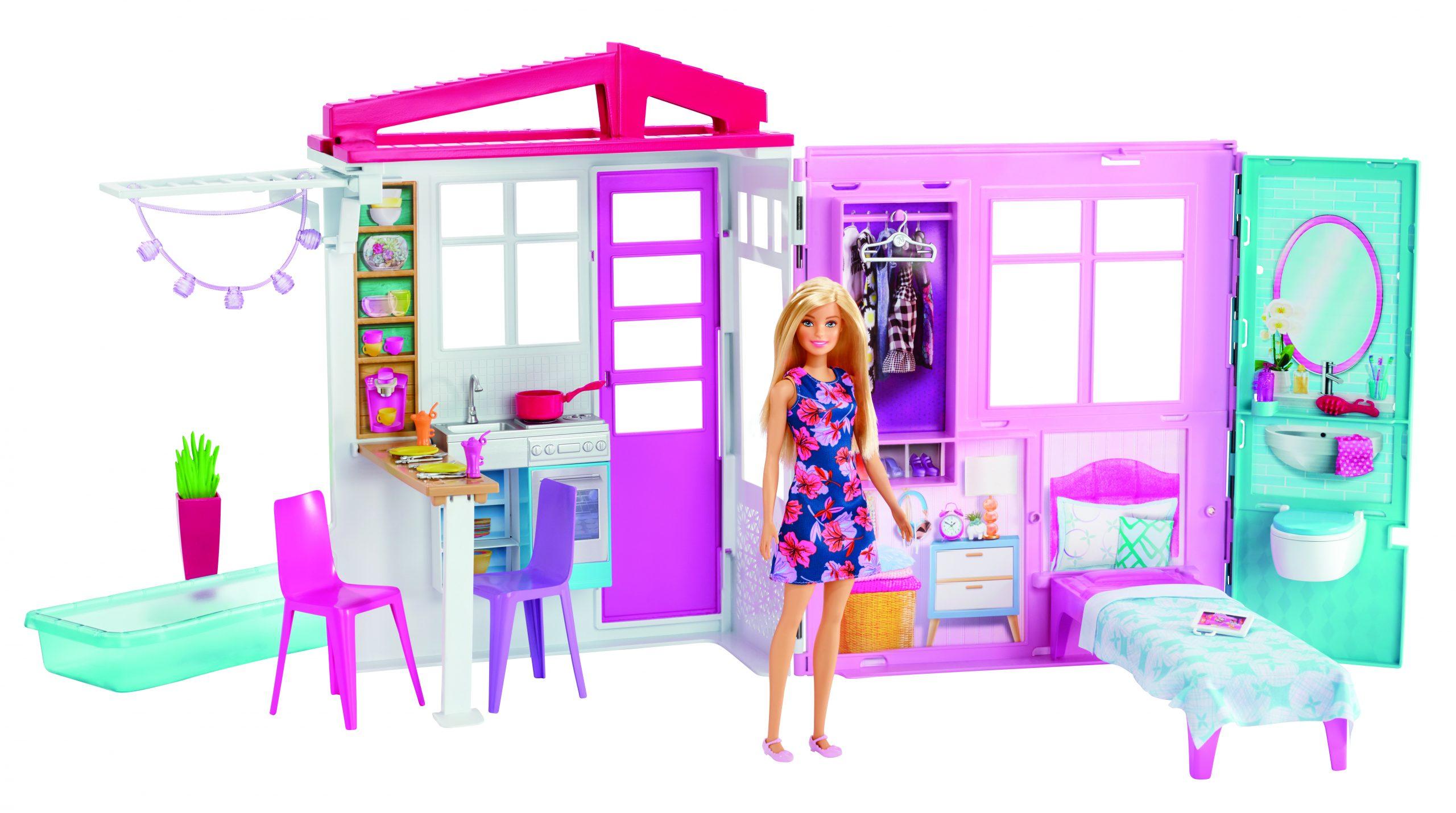 Loft di barbie con bambola -