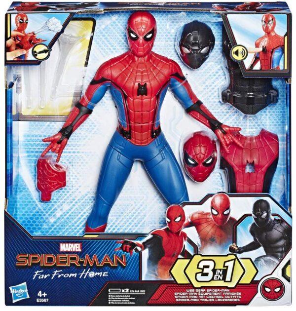 Spiderman 3 in 1 con vestiti intercambiabili e accessori
