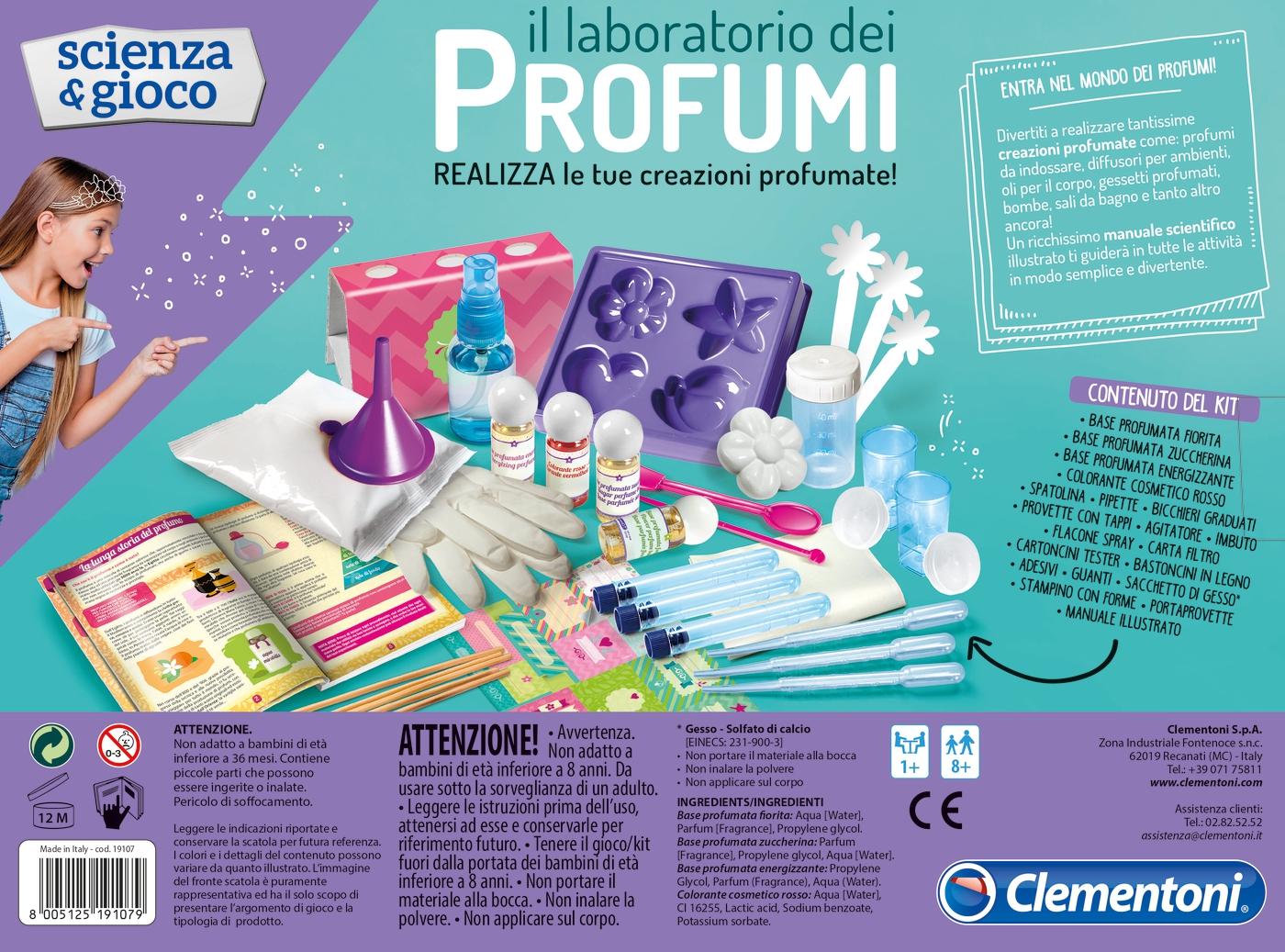 Clementoni - 19107 - laboratorio dei profumi -