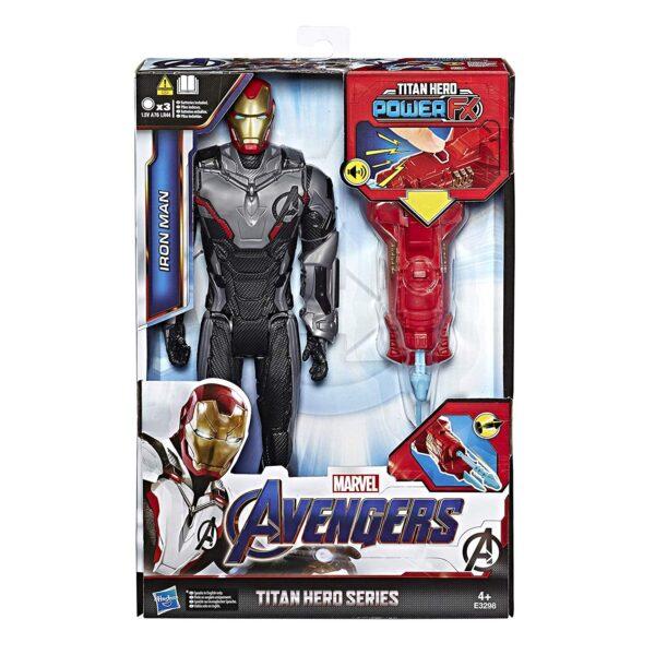 Marvel Avengers: Endgame  Iron Man Titan Hero con Power FX incluso (Action Figure da 30 cm)