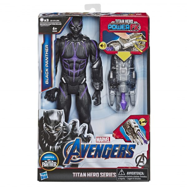 Marvel Avengers: Endgame - Black Panther Titan Hero con Power FX incluso (Action Figure da 30 cm) - Action figures