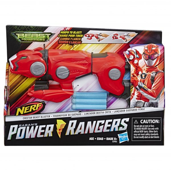 Power Rangers Beast Morphers - Cheetah Beast Blaster (con tecnologia Nerf e 3 dardi) - Action figures