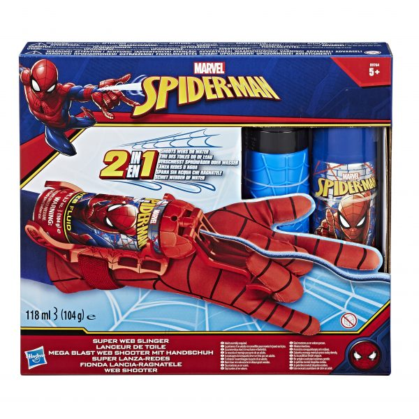 Spider-Man - Guanto Spararagnatele 2-in-1 (Acqua e Ragnatele) - Action figures