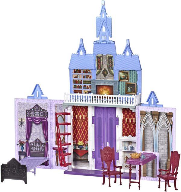 Castello di Arendelle pieghevole Disney Frozen - Gioco per bambini ispirato al film Disney Frozen 2, Gioco portatile adatto a bambini dai 3 anni in su