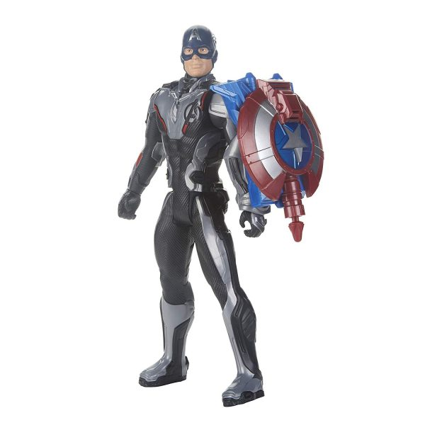 Marvel Avengers: Endgame - Captain America Titan Hero con Power FX incluso (Action Figure da 30 cm)