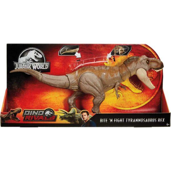 Jurassic World Tirannosauro Mordi e Attacca di Dimensioni Superiori con Mosse d'Attacco di Testa e Coda
