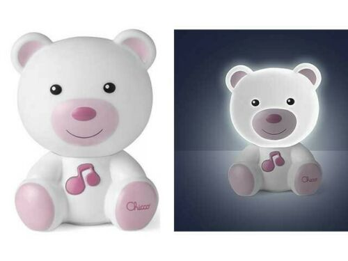 Chicco - Luce Notte Orsetto, Rosa, 0 mesi +