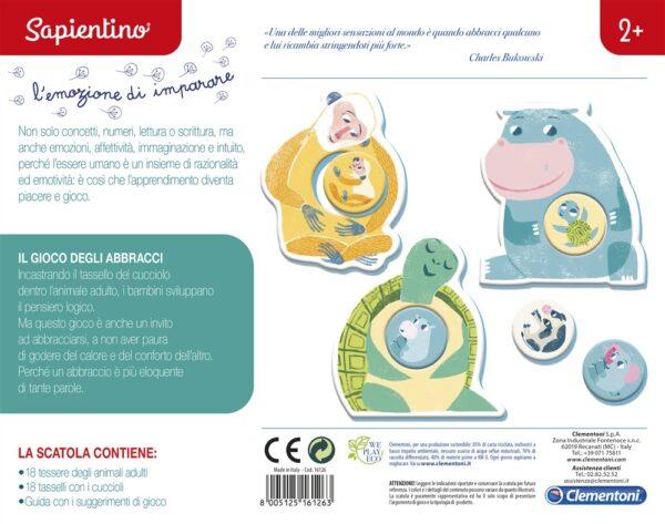 Clementoni Sapientino - Il gioco degli abbracci, Gioco educativo, Multicolore, 16126