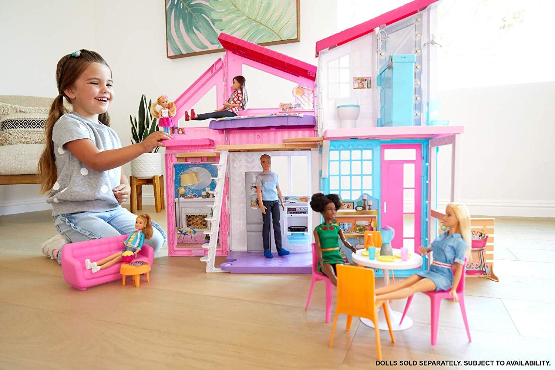 Barbie- Casa di Malibu, Playset Richiudibile su Due Piani ...
