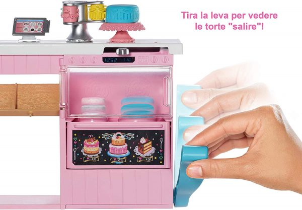 Barbie - Cake Design, Playset Pasticceria Con Bambola, e Accessori